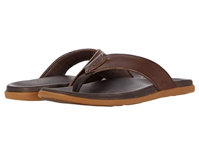 OluKai Nalukai Sandal (Dark Wood/Dark Wood) Men
