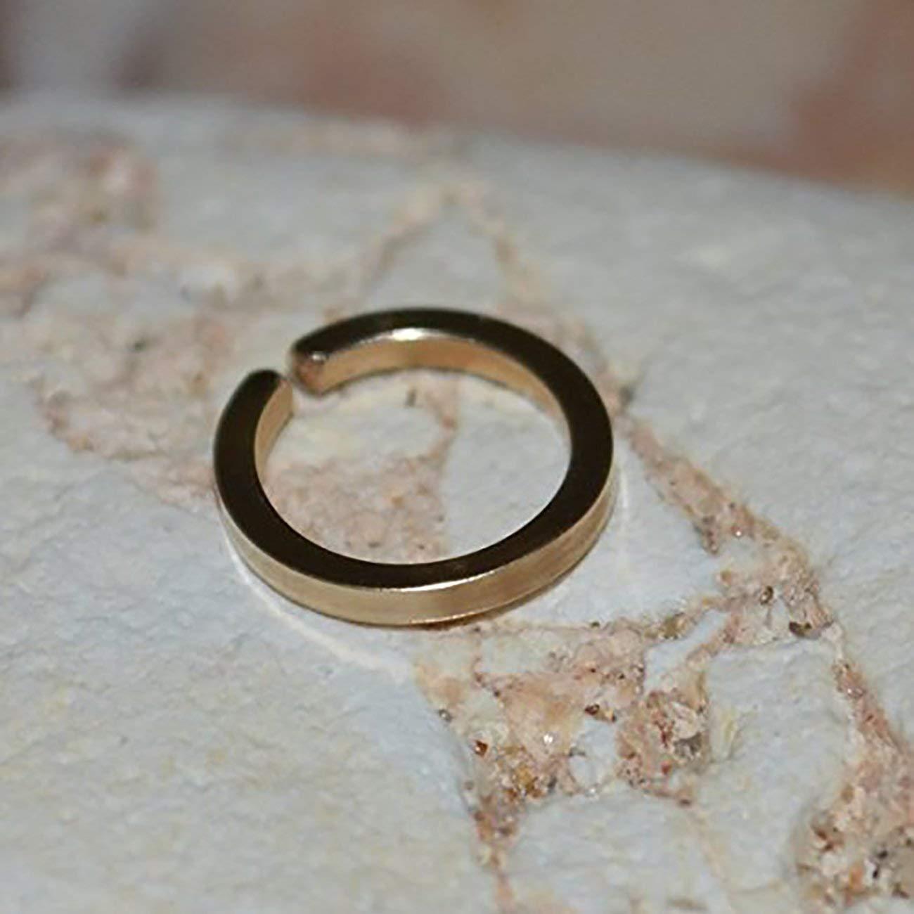 Septum Ring - Gold Nose Ring - Septum Piercing - Septum Jewelry - Tragus Earring - Nipple Ring 18 Gauge