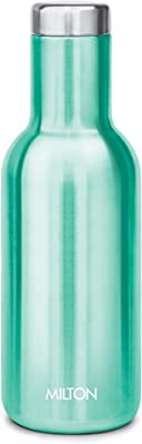 MILTON Stainless Steel Hot or Cold Water Bottle, 550ml, 1 Pc, Green