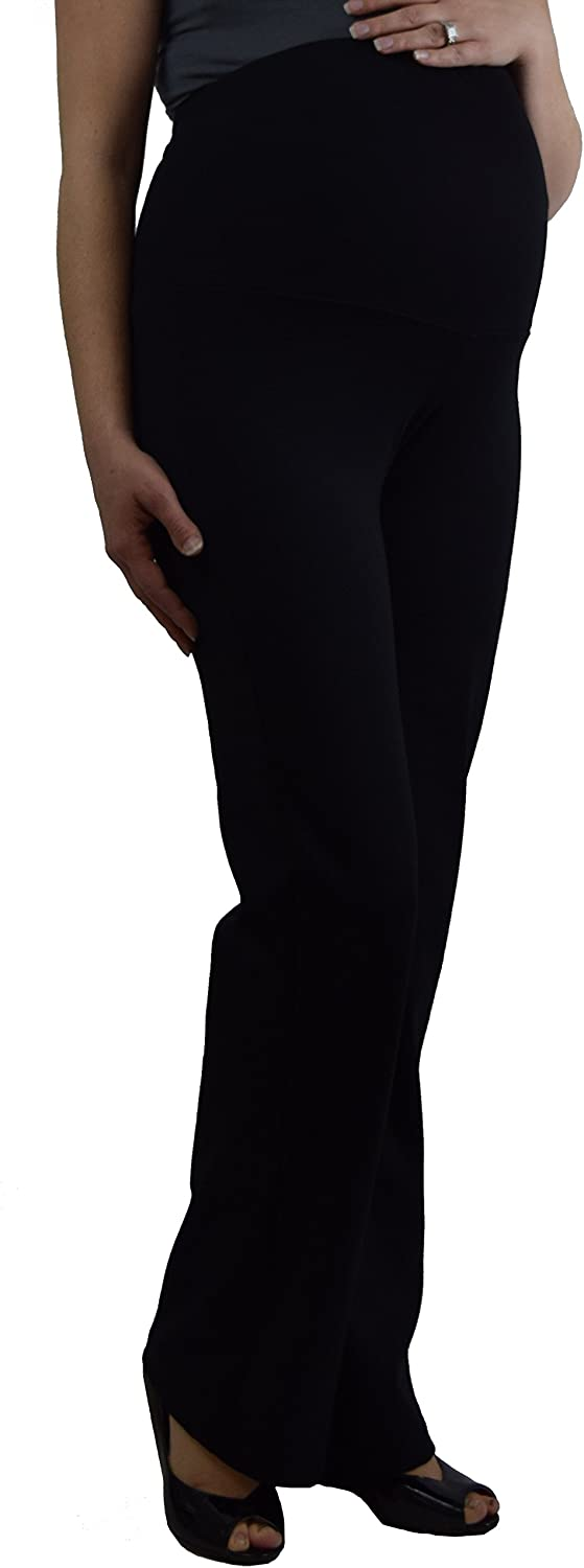 Embrace Your Bump Ponte Knit Over Belly Maternity Pants