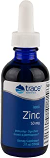 Trace Minerals Research Liquid Ionic, Zinc, 60 servings, 2 Ounce, Dietary Supplement, Magnesium,Immunity, Digestion,Growth...