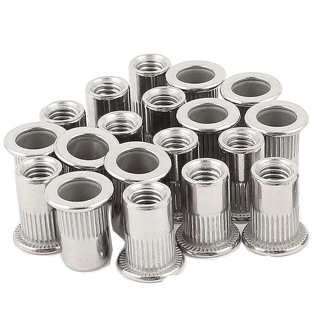 20pcs 3/8''-16 Rivet Nuts Threaded Insert Nutsert Rivnuts Stainless Steel