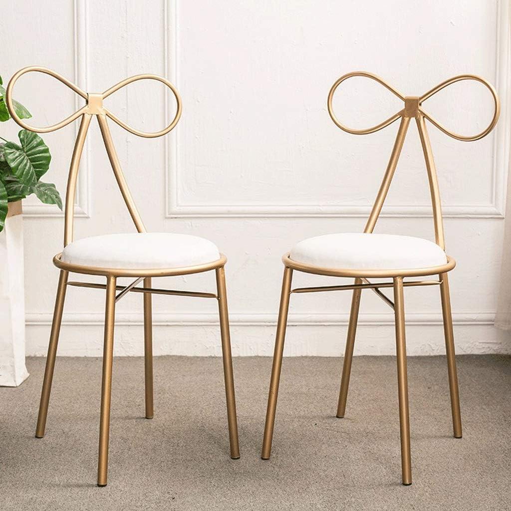 Bar métal Tabouret, Chaise de salle à manger Confort Coussin nordique Casual Chaise haute café Tabouret avec dossier (Color : 75cm) 45cm