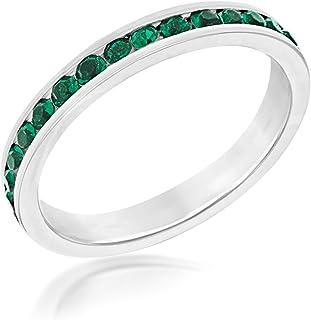 Tuscany Silver 标准纯银深绿色*永恒叠叠圈