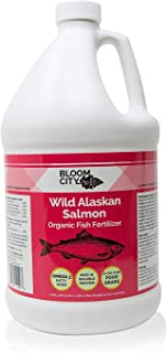 Organic Wild Fish Fertilizer and Plant Supplement, Great for Roots and Soil, Made from Sustainable Salmon, by Bloom City, Gallon (128 oz)