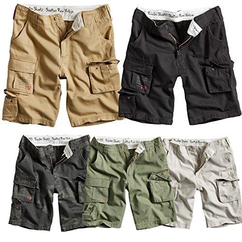 Surplus Trooper Cargo Shorts Vintage Hose Bermuda Short Pantalón Corto, Verde, S para Hombre