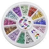 Bluelans® 12 Farben 3mm 3D Glitters Bowknot Nagelsticker Schleife Strass Nagel Art Sticker Dekoration