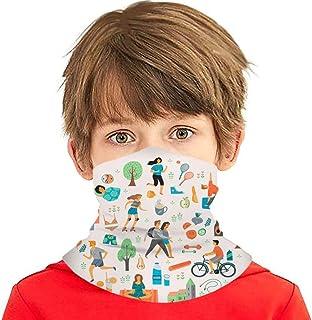 Verctor Día Mundial de la Salud Estilo de Vida Saludable Roller Healthcare Medical Face Cover Bufanda Bufanda Bandanas Pol...