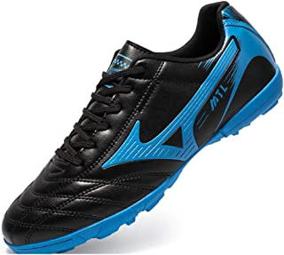 Men TF Football Shoes,Men Outdoor Turf Soccer Shoes Indoor Trainers Teens Wear-Resistant Non-Slip training Shoes