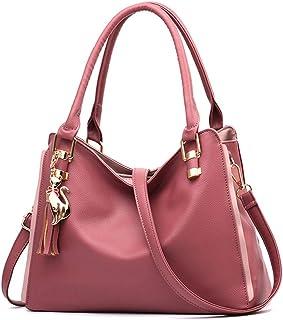 BUKESIYI Damen Tasche Umhängetasche Handtasche Frauen Klein Schultertasche Weekender Lack PU Leder CCDE77157