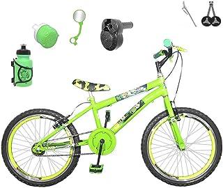 dca65ef18 Bicicleta Infantil Aro 20 Verde Claro Kit e Roda Aero Verde C Acelerador  Sonoro