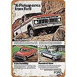 Ford Pickup Trucks 金属スズヴィンテージ安全標識警告サインディスプレイボードスズサインポスター看板建設現場通りの学校のバーに適した