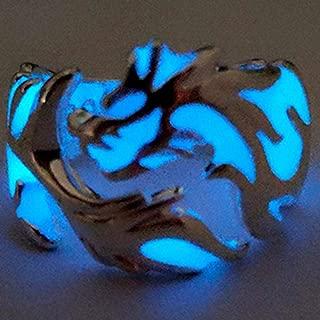 WGY Luminous Dragon Ring Für Männer Größe Einstellbar Nachtleuchtend Im Dunkeln Leuchtenden Mond Schmuck