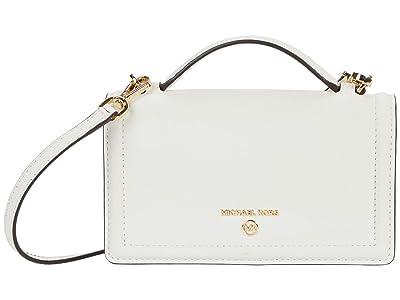 MICHAEL Michael Kors Jet Set Charm Small Top-Handle Phone Crossbody (Optic White) Handbags