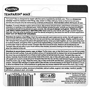 DenTek Temparin Max Lost Filling and Loose Cap Repair Kit | One Step Formula | 5+ Repairs | 0.04 Ounces | 2-Pack