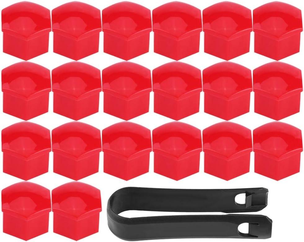 Akozon Regular store fiat 500 Max 51% OFF red wheel n 20Pcs Nut Bolt Lug Wheel Covers Hub