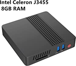 Mini PC Computadora de Escritorio Intel Celeron Apollo Lake J3455 Procesador (hasta 2.3GHz),8G LPDDR4/eMMC 64GB Windows 10 Pro (64-bit) HDMI&VGA Pantalla HD Dual WiFi USB 3.0/BT 4.2 M.2 2242 SSD
