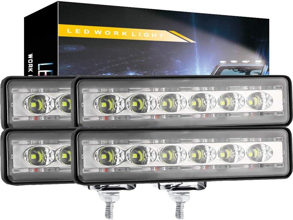 LUKUCEA Pack of 4 - Max 66% OFF Universal Aluminum Housing DC 6 half C 12-24V LED