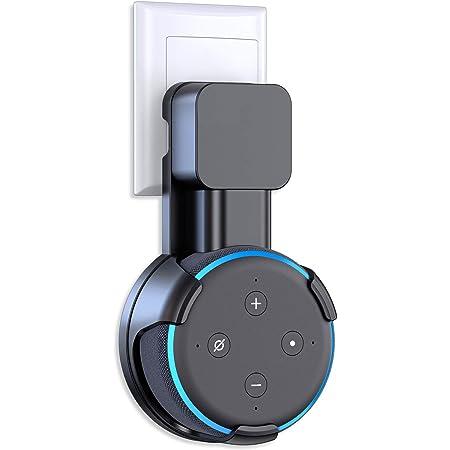 YeBetter Steckdose Wand Halterung Halter F/ür  Alexa Echo Dot 3 Generation Platz Sparende Stand Halterung Assistenten Zubeh?r Schwarz