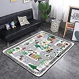 HMBBDT Teppich, Krabbeldecke Fürs Kind, Spielmatte/Baby-Krabbelteppich/Wohnzimmer-Bodenmatte/Kinderteppich Straßenteppich Spielunterlage Kinderzimmer