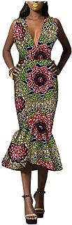 African Dresses for Women Ankara Dashiki Clothing Mermaid Skirts Wax Print