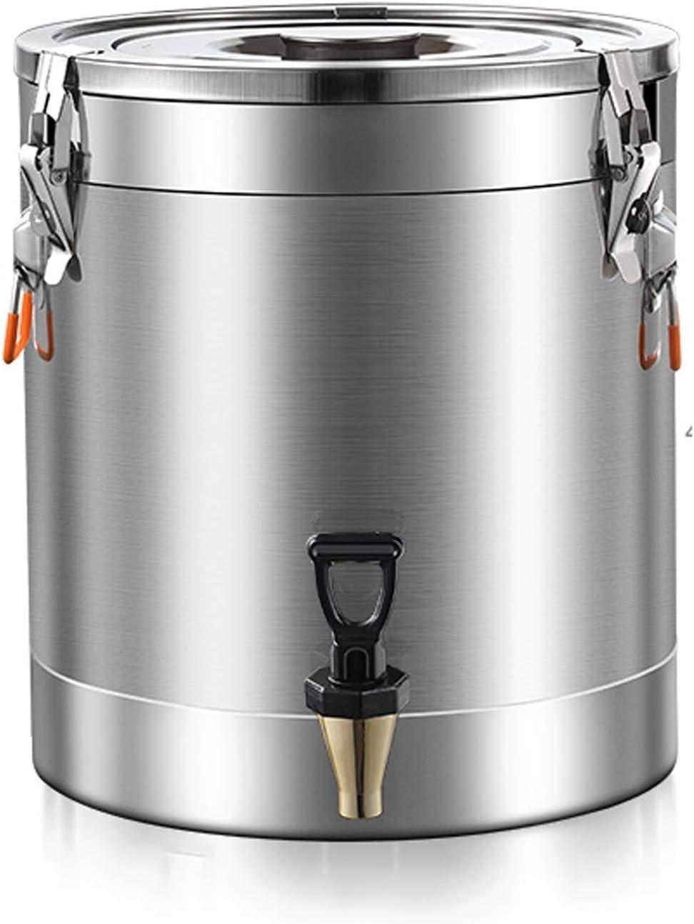 Barril de Acero Inoxidable 304 con Tapa sellada Fuerte y válvula Latas de Transporte de Leche para el Tambor de elaboración de Cerveza de Vino casero (20L - 60L) (tamaño : 60L)