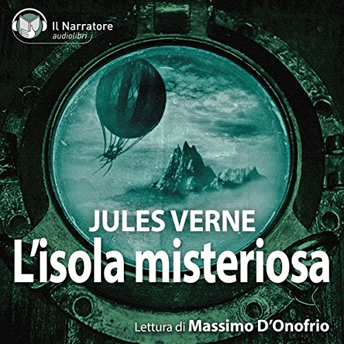 L'Isola misteriosa. The Mysterious Island audiobook cover art