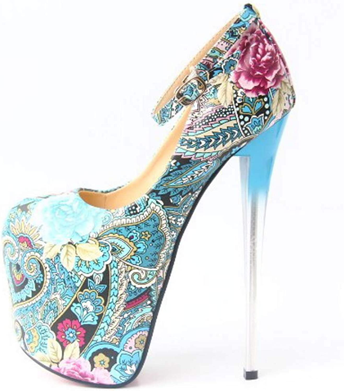 Plattfumpar, Kvinnliga skor Patent läder Springaa sommar Heel s Stiletto Heel Round Toe Buckle for bröllop Dress Party &Evening