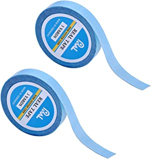 2 Pack Lace Front Support Tape Double-Sided Tape No Shine (0.8 cm X 3 Yards) Super Adhesives for Lace Front Wigs,Toupees,Hair Extensions,Hairpieces