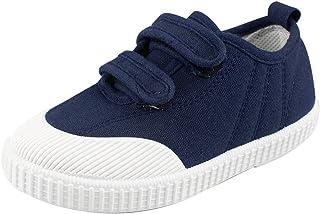 Boys' Girls' School Shoe Kids Lightweight Canvas Casual Low Top Sneakers Slip-On Loafers