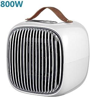 GYF Calefactor eléctrico 800W de cerámica Calentador portátil con termostato Ajustable - Perfecto for la Oficina en casa o Home (Color : White)