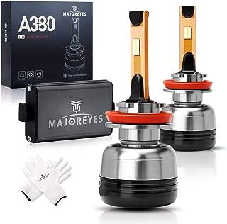 MAJOREYES H11 H9 H8 LED Headlight Bulbs,CREE Chips-(60W-10000LM-6000K) Conversion Kit,2 Years Warranty