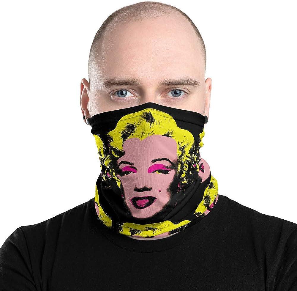 Monroe Pop Art Face Mask Marilyn Bandanna Scarf Neck Gaiter Unisex