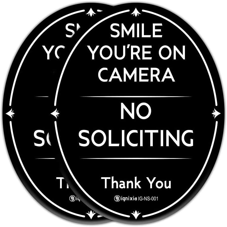 Ignixia No Soliciting Sign for House (Pack of 02) 4