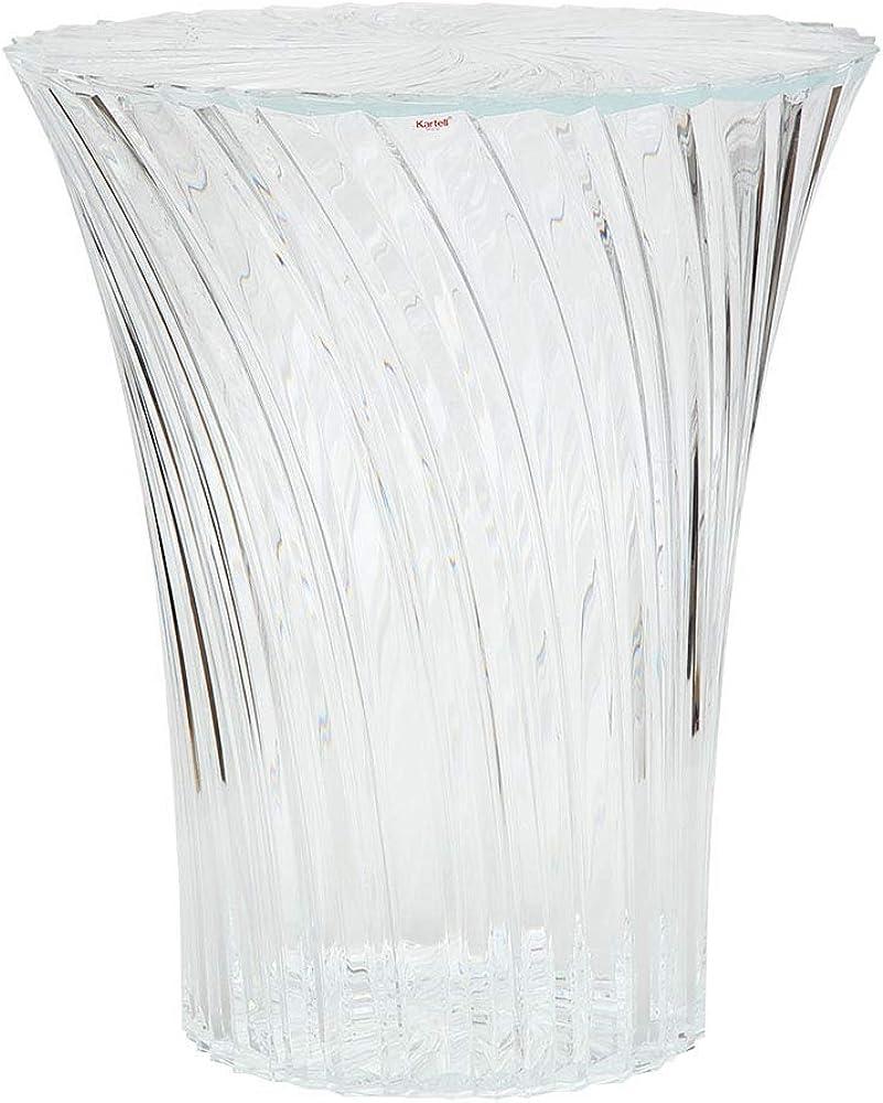 Kartell sparkle, sgabello in pmma trasparente 8818/B4