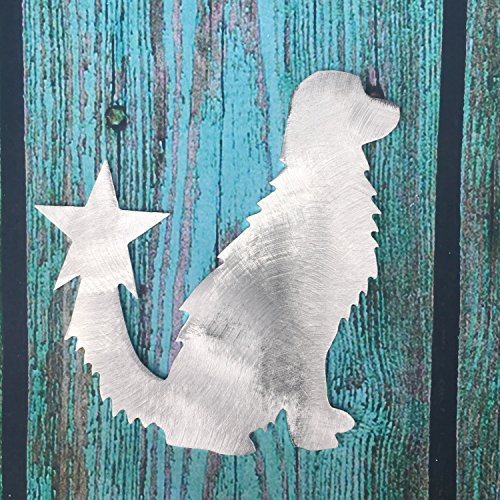 Golden Retriever, Dog Christmas Tree Topper, Wreath Decoration, Holiday Decoration, Aluminum