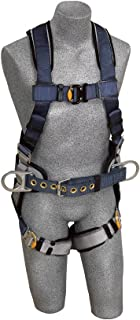 3M DBI-SALA ExoFit 1108507 Construction Harness, Back D-Ring, Sewn-In Back Pad & Belt w/Side D-Rings, Quick-Connect Buckles, Extra Large, Blue/Gray