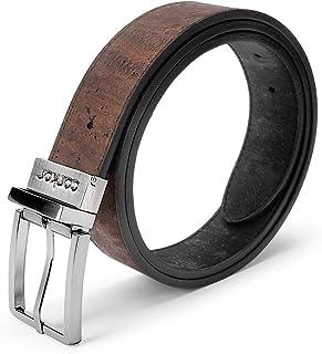 Reversible Vegan Belt Cork, 1 3/8 Inch (35 mm) Wide, Black Brown Color