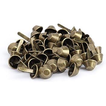 10mm-Green Bronze 50Pcs Nailhead Stud,Purse Handbag Cone Feet Nailhead Stud Spike Leather Craft Supplies