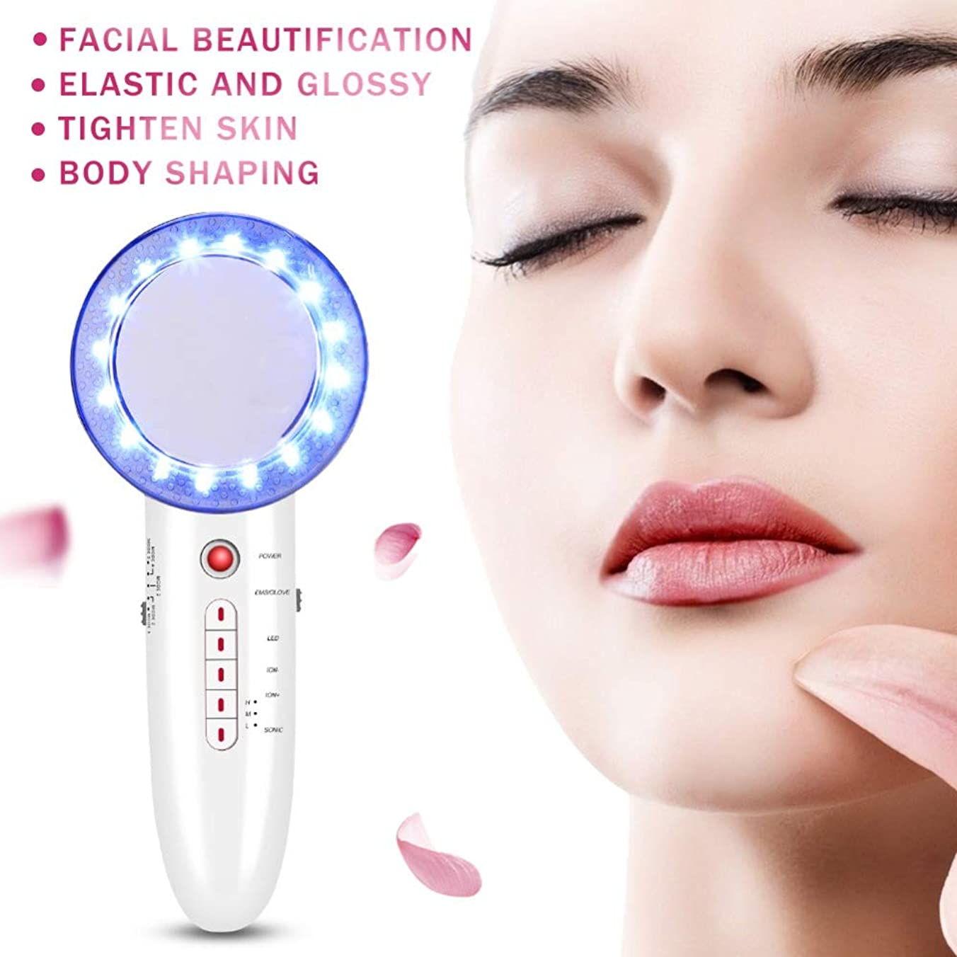 洗う同意する主6 In 1 EMS Ultrasonic Massager Body Slimming Anti Cellulite Massage Cavitation LED Galvanic Ion Fat Weight Loss