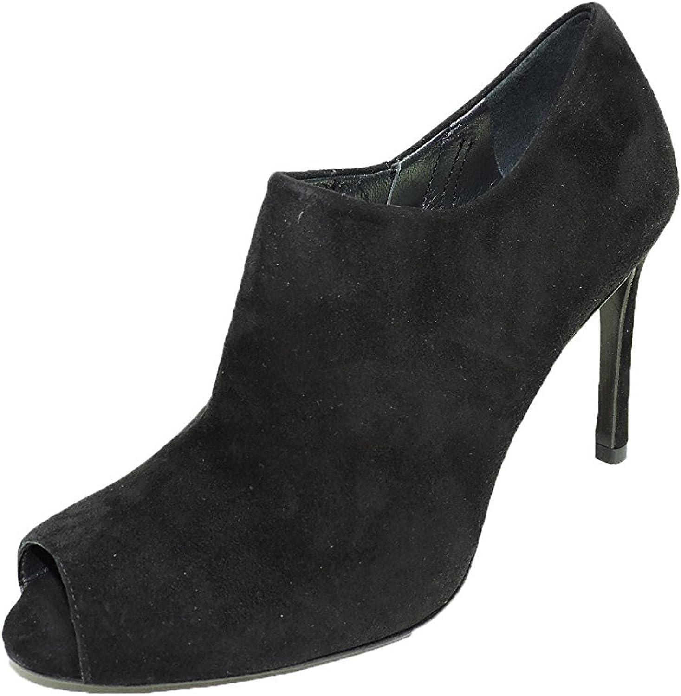 Stuart Weitzman Women's Altamira Boot Black Suede 3.75  Heel peep Toe Boots, Booties