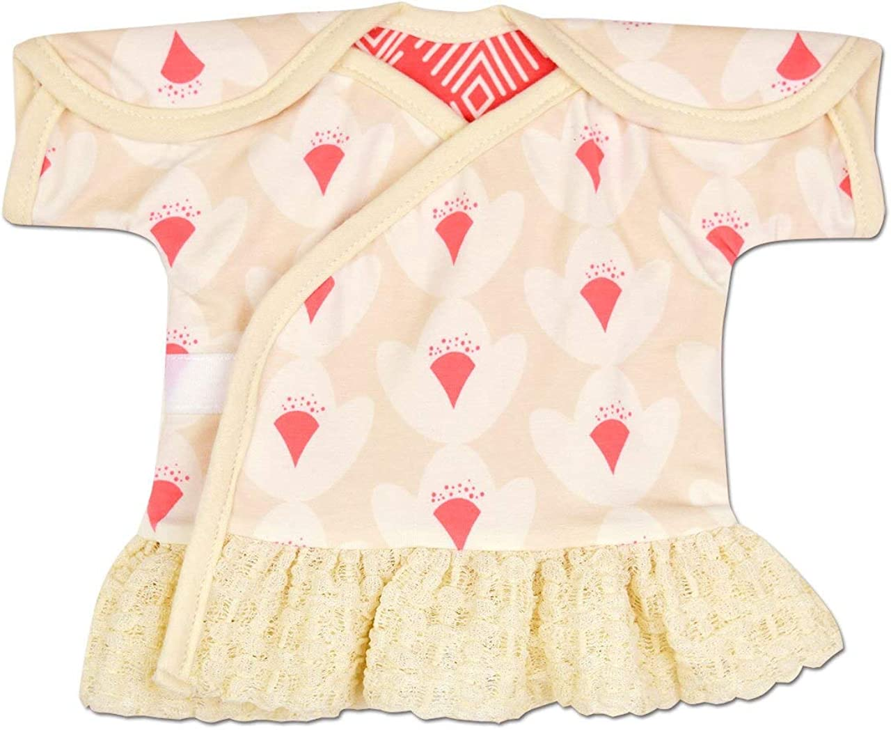 6 Long PreemieMicro Preemie Pink Lace Dress or Burial Garment 0-3 Months