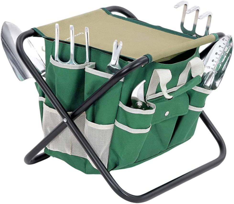 YTNP Gardening Seat with Garden Ki Tote Bag Storage Tools Max Max 49% OFF 41% OFF
