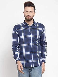 MAFATLAL Men Checkered Long Sleeve's Casual Shirt