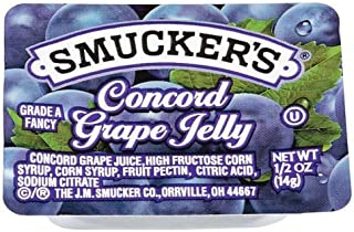 Smucker's Concord Grape Jelly, 0.5 Ounce (Pack of 200)