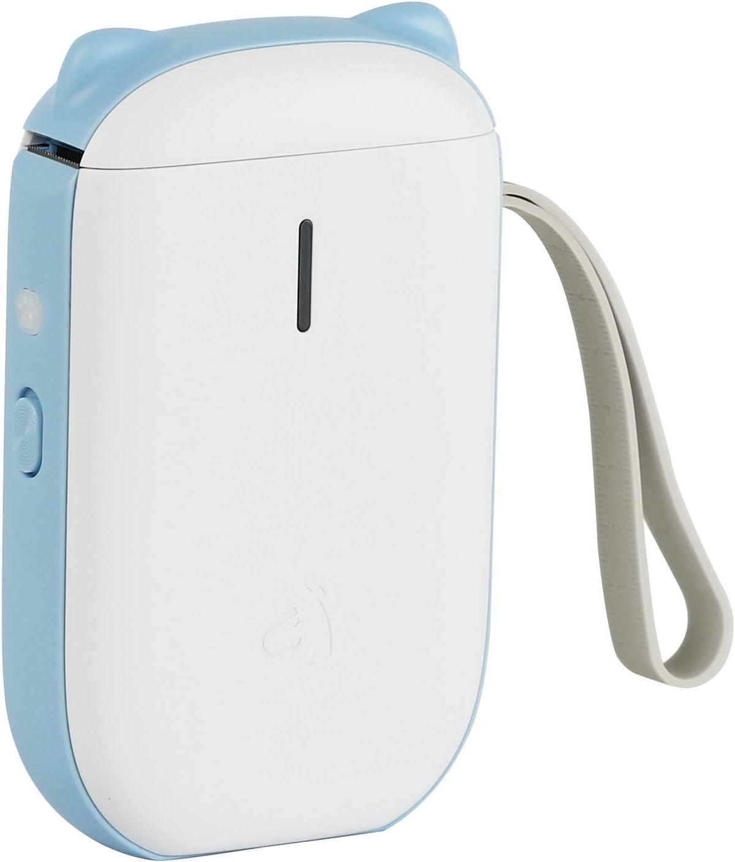 Lable Maker Machine,CT-20B Mini Smart Label Maker with Bluetooth Thermal Label Printer Machine (1 Roll Paper in Label Printer) (Blue)