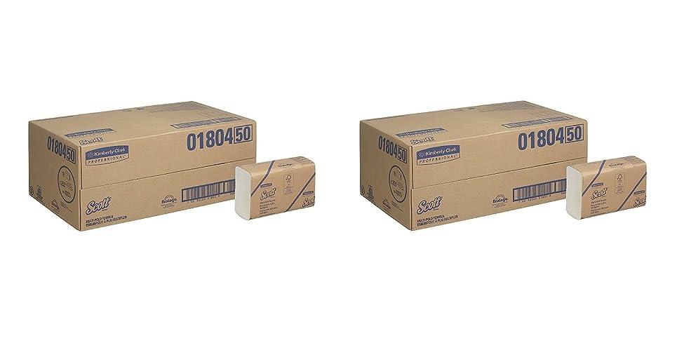 知人残り素子スコット?Multifold Paper Towels ( 01804?) with速乾性吸収性ポケット、ホワイト、16パック/ケース、250?Multifoldタオル/パック 2 CASES