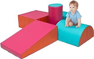 Crawl and Climb Foam Play Set, Colorful Fun Foam Play Set, 5 Piece Lightweight Interactive Set, Children's Software Compos...