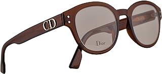 Christian Dior DiorCD2 Eyeglasses 46-22-145 Transparent Brown Cora w/Demo Clear Lens 2LF CD2