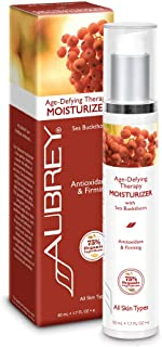 Aubrey Age-Defying Therapy Facial Moisturizer | Protects, Refines & Replenishes | Sea Buckthorn Oil | 75% Organic Ingredie...